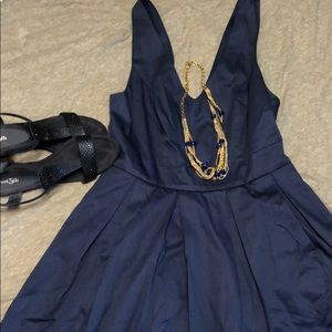 ModCloth Midi Navy Blue Dress